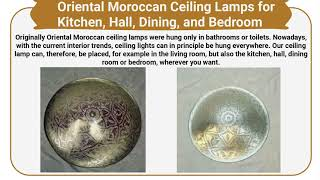 Moroccan style lights from Oriental Lamps