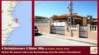 preview picture of video '4 Schlafzimmern 2 Bäder Villa zu verkaufen in Els Poblets, Alicante, Spain'