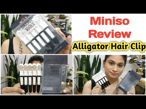 MINISO Aligator Hair Clips | Hair Styling Clips | Crocodile Clips #diywithrj #hairstyles