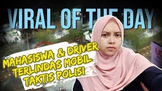 VIRAL HARI INI: Kerusuhan Aksi di Makassar, Mahasiswa & Driver Ojol Terlindas Mobil Taktis Polisi