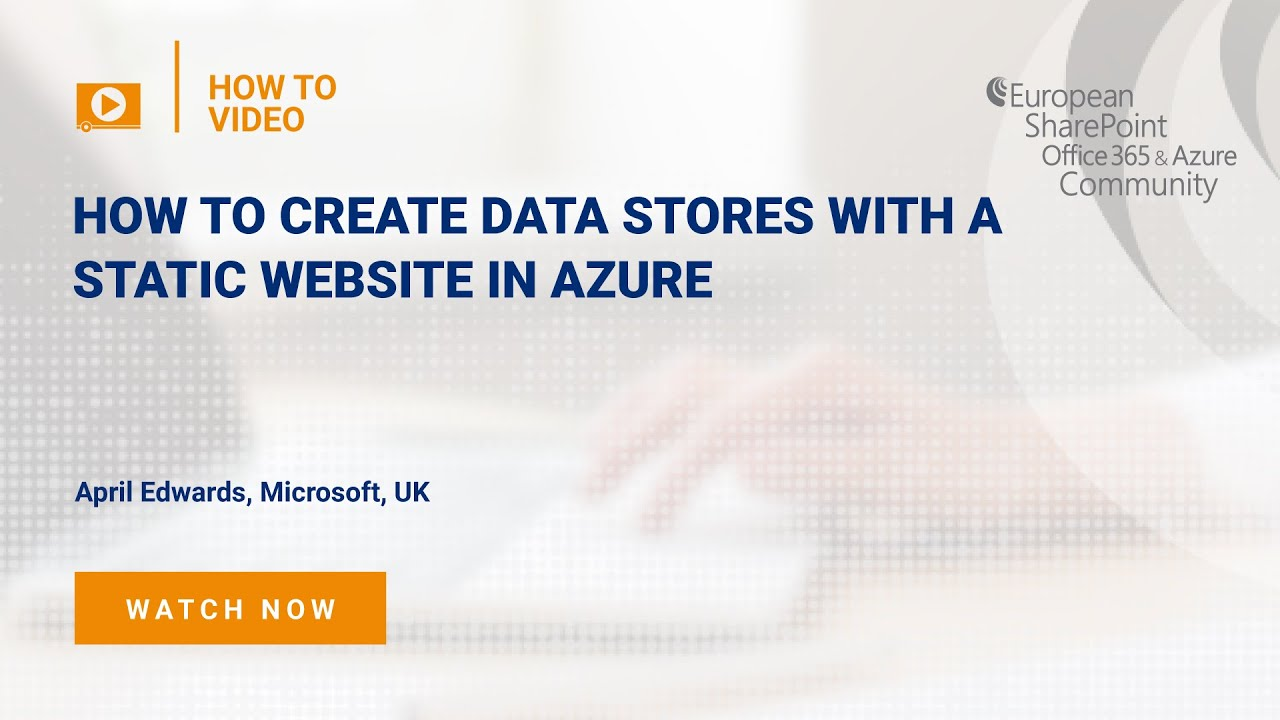 How To Create Data Stores with a static website in Azure