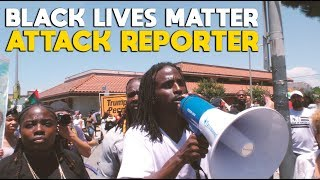 Black Lives Matter ** ATTACK ** Reporter at Maxine Waters HQ