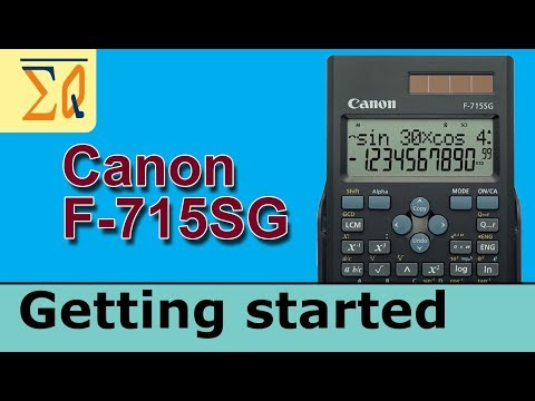 Getting Started with Canon F-715SG Scientific Calculator