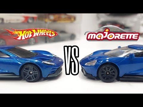 HOT WHEELS VS MAJORETTE - 2017 Ford GT Manufacturer Comparison!