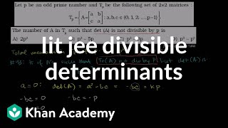 IIT JEE Divisible Determinants