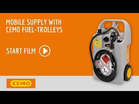 Cemo bensintank tralle 60 ltr - film på YouTube