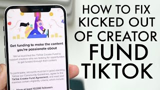 How To Get Your TikTok Creator Fund Back!