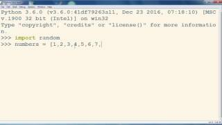 How to Shuffle a List of Numbers in Python programming language -  Python tutorial