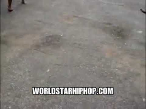 Street fight two ghetto girls in the hood pulling hair and biting