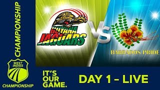 🔴LIVE Guyana vs Barbados - Day 1 | West Indies Championship | Thursday 12th March 2020