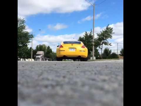 Yellow 350z - magnaflow exhaust test pipes - смотреть онлайн на Hah Life