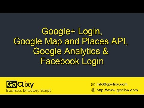 GoClixy - Social Login, Analytics and Google Places API Configuration