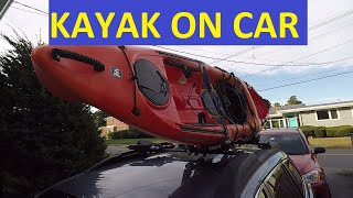 How to Load Kayak on Car by Yourself, Thule, Wilderness Systems Tarpon 100, Subaru Outback