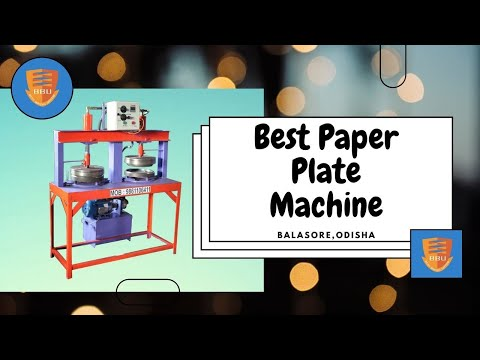 Double Hydraulic Die Paper Plate Making Machine