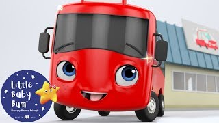 My Little Red Bus And The Carwash | Go Buster | BRAND NEW! | Baby Songs | Little Baby Bum