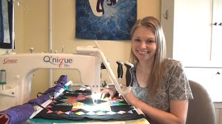 New Kind Of Sit Down Longarm - Quilting Crown Of Scraps On The Qzone Frame