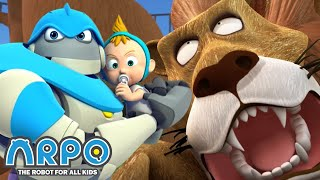 Arpo the Robot | Lion Attack! | COMPILATION | Best Moments | Funny Cartoons for Kids