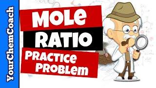 Using Mole Ratios To Determine Moles Of Product   Practice Problem