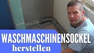 Waschmaschinensockel auf Holzfussboden   Umbauheld