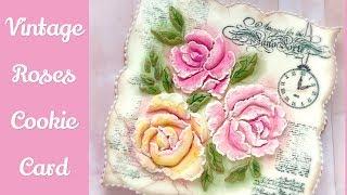 Vintage Roses Cookie Card.💐