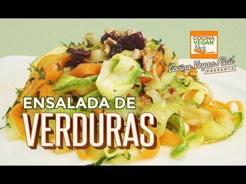 Ensalada de verduras -  Cocina Vegan Fácil