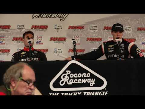 2019 IndyCar Pocono 500 Power and Newgarden Q&A