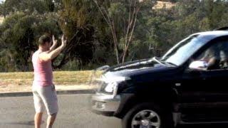 MAN RUN DOWN BY CAR
