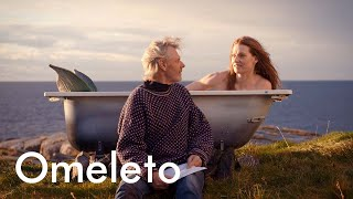 A man discovers a mermaid washed up on the shore, then puts her in his bathtub. | Bathtub by the Sea