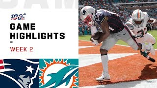 The New England Patriots take on the Miami Dolphins during Week 2 of the 2019 NFL season.  Subscribe to NFL: http://j.mp/1L0bVBu  Check out our other channels: NFL Vault http://www.youtube.com/nflvault NFL Network http://www.youtube.com/nflnetwork NFL Films http://www.youtube.com/nflfilms NFL Rush http://www.youtube.com/nflrush NFL Play Football https://www.youtube.com/playfootball NFL Podcasts https://www.youtube.com/nflpodcasts  #NFL #Patriots #Dolphins