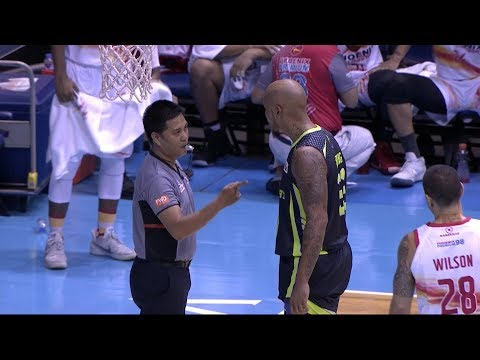 Nabong ejected for arguing with Louie Alas and official | PBA Philippine Cup 2018