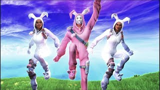THE BUNNY SQUAD ft. COURAGE, POKIMANE & ELECTRA!!! (Cizzorz Fortnite Battle Royale Squads Gameplay)