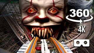 VR Jumpscare 360 Coaster Dark Ride - Will you escape Pennywise?