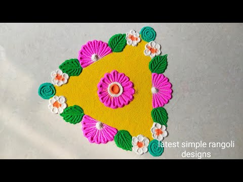 navaratri muggulu rangoli design triangle kolam