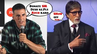 Bollywood Controversy ! Akshay Kumar Takes a Dig On Amitabh Bachchan's Tweet Over Maharashtra Floods