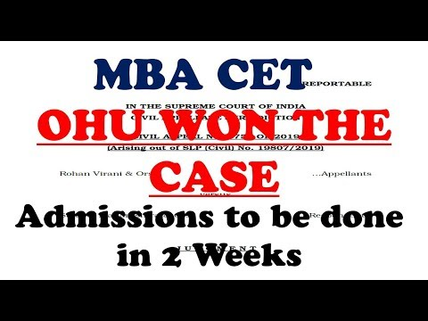 MBA CET Supreme Court Verdict is out. OHU Won the Case. Admissions to be done in 2 weeks