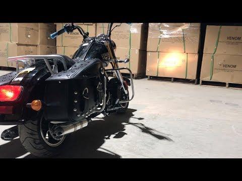 50cc Mini Chopper by Venom Motorsports Harley Clone Review – 1-855-984-1612