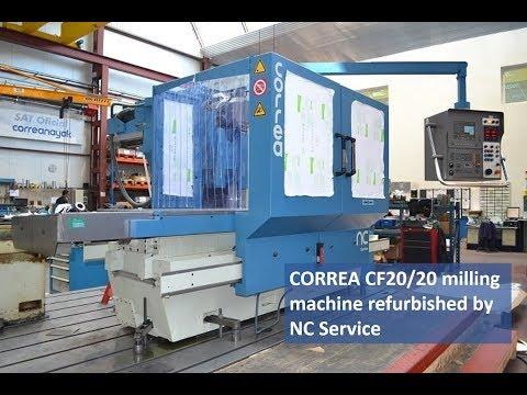 CORREA CF20/20 milling machine refurbished by NC Service