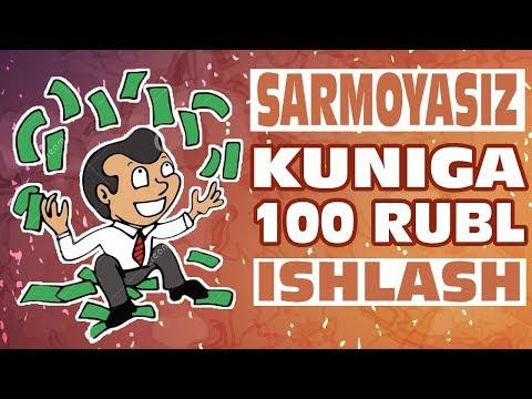 SARMOYASIZ KUNIGA 100 RUBL ISHLASH. PROMOVK