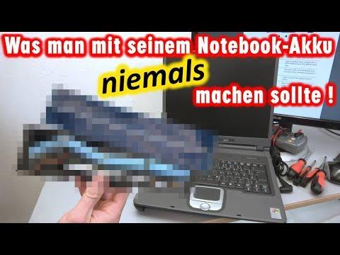 Was man mit seinem Notebook Akku niemals machen sollte | Laptop-Batterie