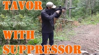 IWI TAVOR Suppressed: shooting w/ a Liberty Mystic silencer