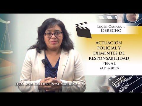 ACTUACIÓN POLICIAL Y EXIMENTES DE RESPONSABILIDAD PENAL - Luces Cámara Derecho 153