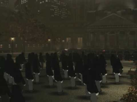 image from Eminem video Mosh, select to view explicit video