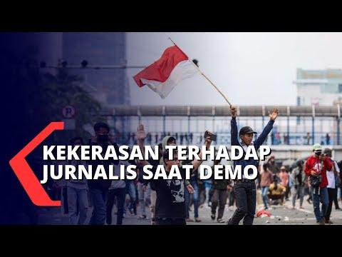 kekerasan terhadap jurnalis saat demo tolak omnibus law