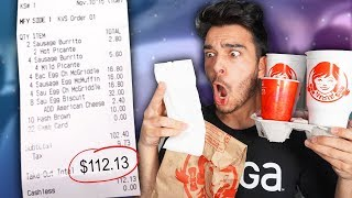 Letting The Person in Front of Me DECIDE What I Eat for 24 HOURS! (Impossible Food Challenge)