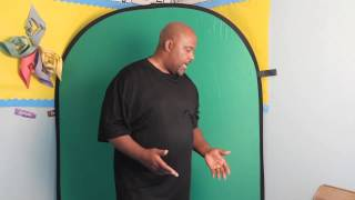 cowboy studio 5 x 7 Collapsible Chromakey Green + Blue Screen