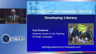 Common Core And Language Learning: Developing Literacy