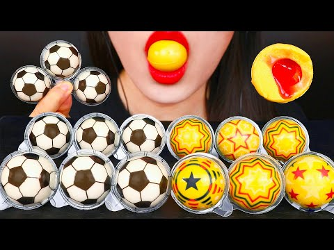 ASMR GUMMY 우주젤리, 축구공젤리 먹방 ゼリー 咀嚼音 GALAXY FOOTBALL JELLY MUKBANG EATING SOUNDS | Zoey ASMR