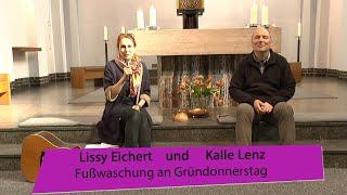 Lissy und Kalle – Fußwaschung an Gründonnerstag
