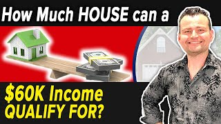 How much house do I qualify for with a $60K income?