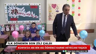 Konya'da karne sevinci! 450 bin öğrenci karne aldı